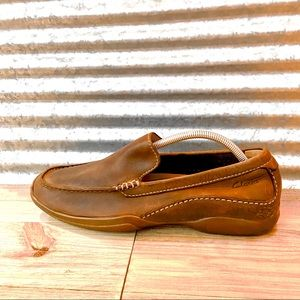 Clark's Men Brown Leather Loafers, Size 9.5, EUC